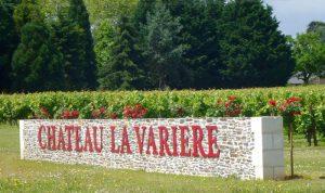 Château la Varière - Entrée de la propriété